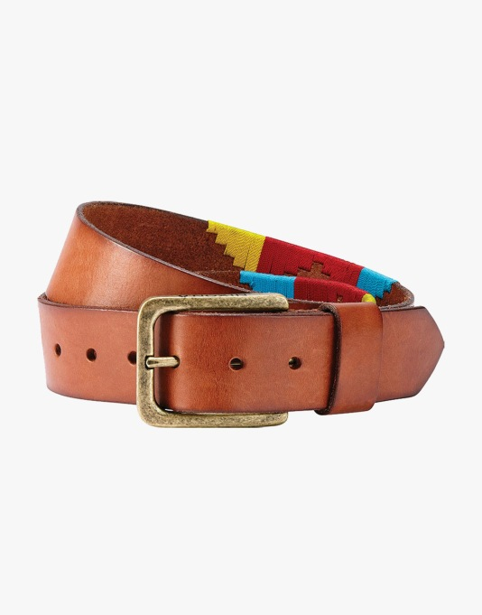 Nixon x Andrew Reynolds Leather Belt - Brown