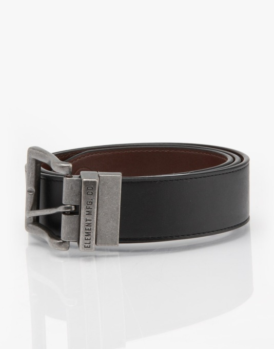 Element Matthew Leather Belt - Black