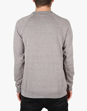 Brixton Rival Crew Sweatshirt - Heather Grey/Navy