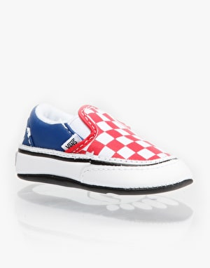 Vans Classic Slip-On Crib Shoes - Red/White/Blue
