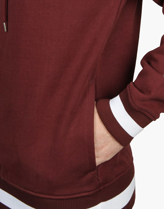 The Hundreds Court Pullover Hoodie - Burgundy