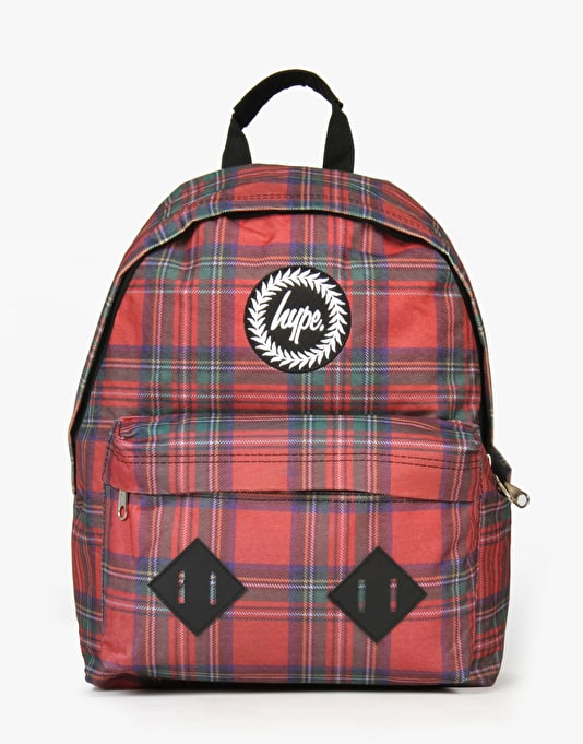 Hype Backpack - Tartan Red