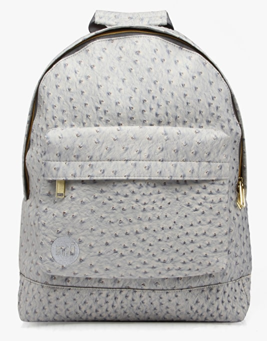 Mi-Pac Gold Ostrich Backpack - Light Grey