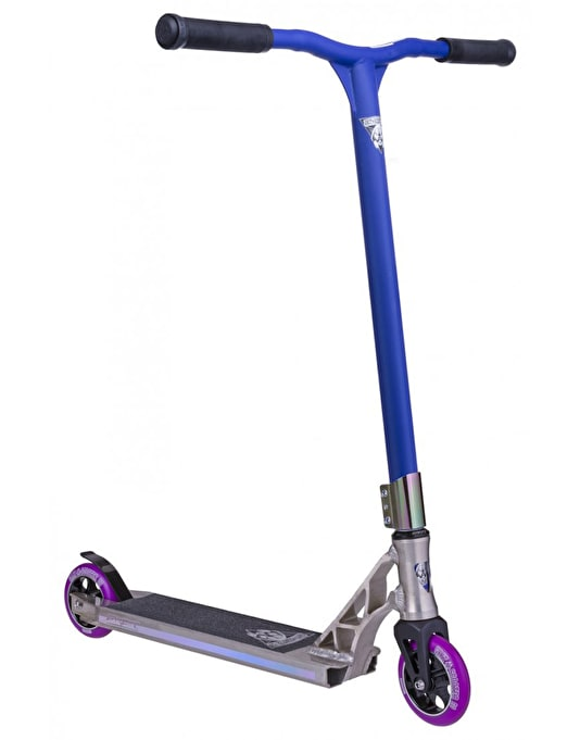 Grit Invader 2015 Scooter - Raw/Satin Blue