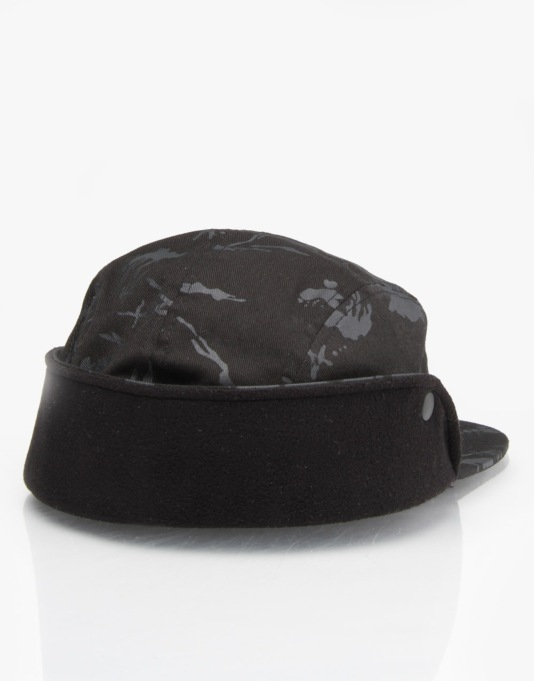 Diamond Supply Co. Tundra Fold Down Camp 5 Panel Cap - Black