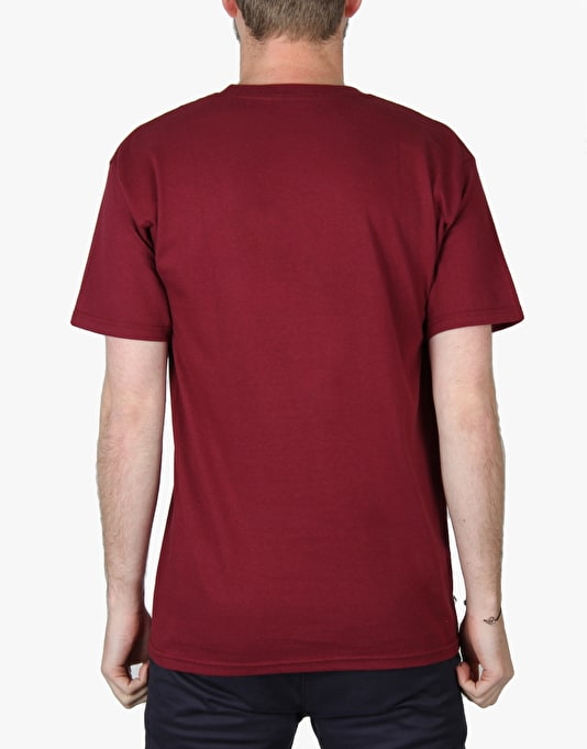 Thunder Stock Grenade T-Shirt - Burgundy