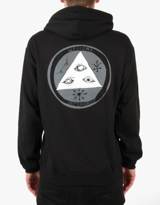 Welcome Talisaman Tri-Colour Hoodie - Black/Grey/White