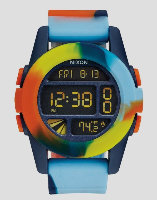 Nixon x Grizzly Unit Watch - Tie Dye/Grizzly