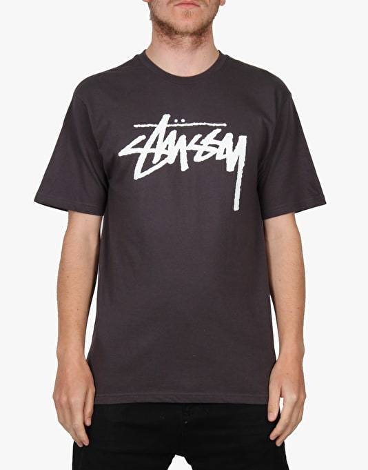 Stüssy Stock T-Shirt - Charcoal