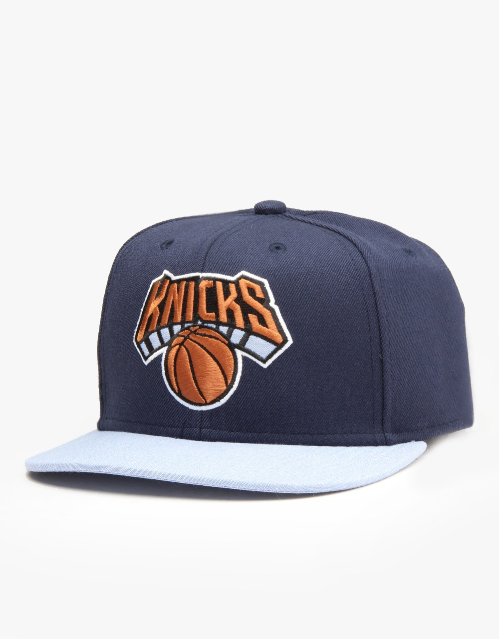 48cf5077fae Mitchell   Ness NBA NY Knicks Command Snapback Cap - Navy Blue ...
