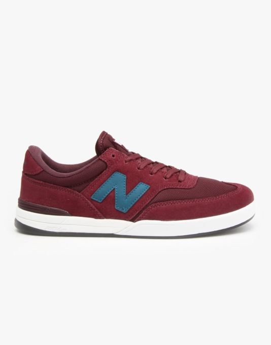 New Balance Numeric Allston 617 Skate Shoes - Red/Blue-Suede/Mesh