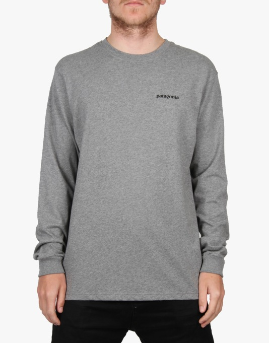 Patagonia L/S Fitz Roy Trout T-Shirt - Gravel Grey