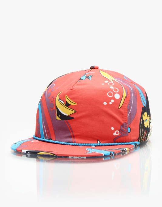 Patagonia Wavefarer Snapback Cap - Paradise Fish/Turkish Red