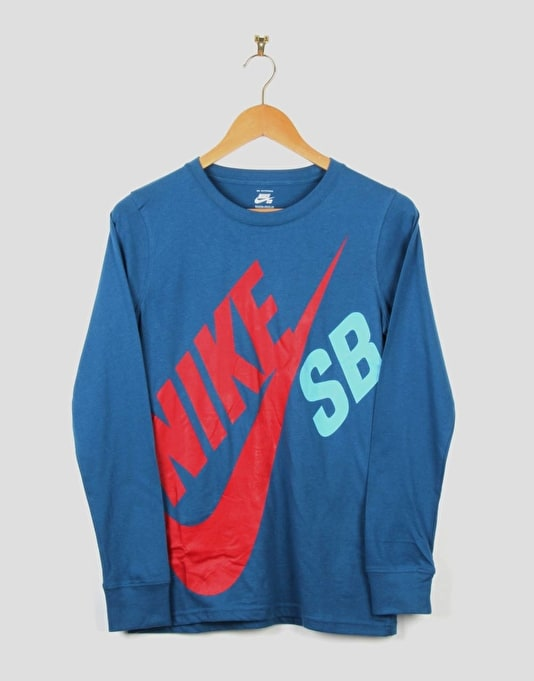 Nike SB Big Boys LS T-Shirt - Brigade Blue