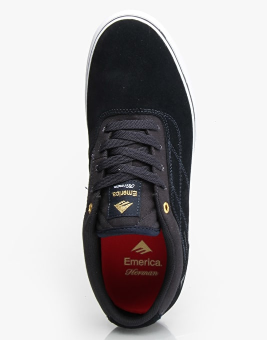 Emerica Herman G6 Vulc Skate Shoes - Navy/White