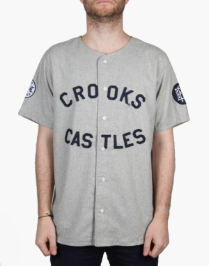 Crooks & Castles Southpaw S/S Woven Shirt - Heather Grey