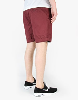 Globe Goodstock Chino Walkshorts - Oxblood