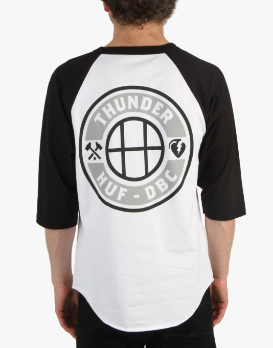 Thunder x HUF Mainline 3/4 Raglan T-Shirt - White/Black