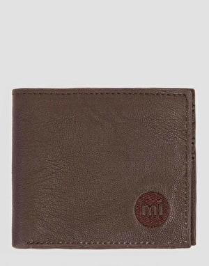 Mi-Pac Card Holder & Wallet Gift Set - Matte Dark Brown