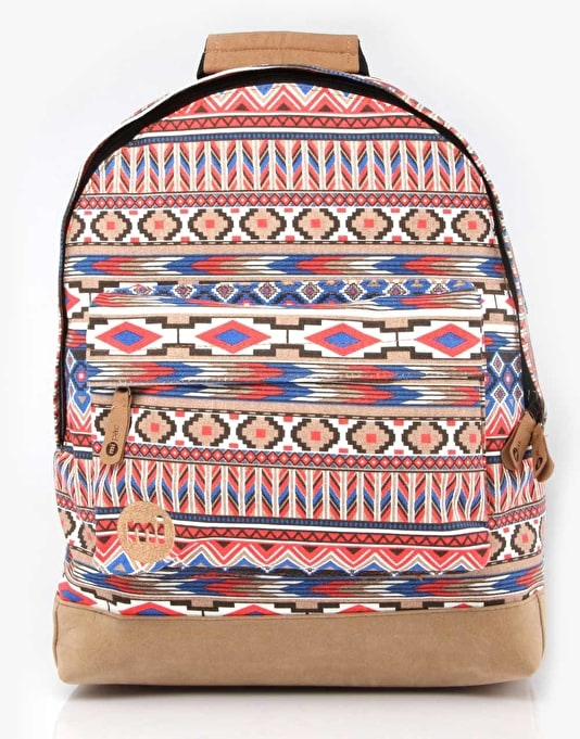 Mi-Pac Aztec Backpack - Tan/Red/Blue