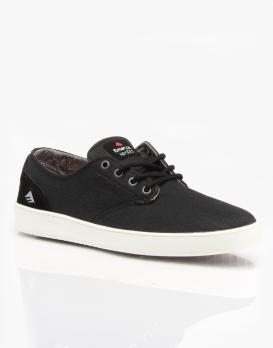 Emerica Romero Laced Skate Shoes - Black Denim