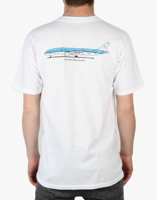 5Boro Royal Airlines T-Shirt - White