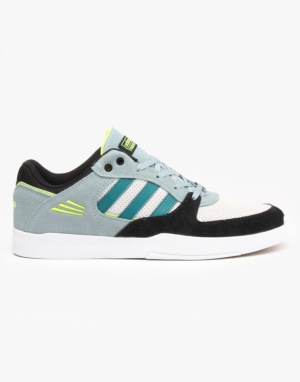 Adidas Tribute ADV Skate Shoes - Green Earth/Core Black/Solar Yellow