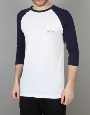 Route One Four Corners Raglan T-Shirt - White/Navy