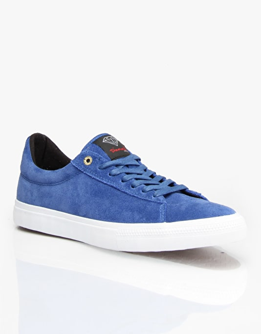 Diamond Supply Co. Crown Skate Shoes - Blue Suede