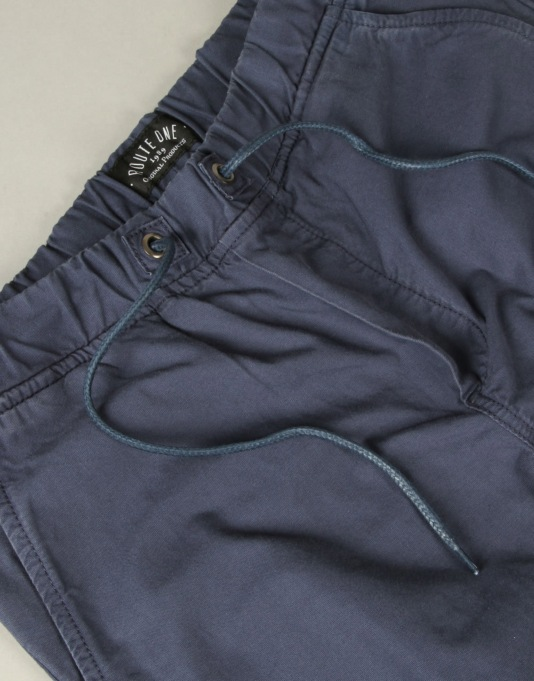Route One Cuffed Chinos - Navy