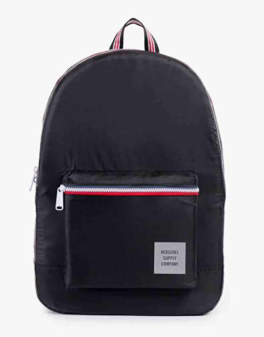 Herschel Supply Co. Packable Daypack Backpack - Black/Navy/Red