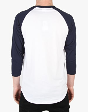 Crooks & Castles Crooks Baseball T-Shirt - White/True Navy