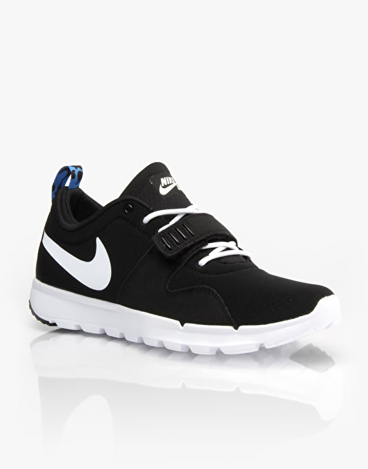 Nike SB Trainerendor Skate Shoes - Black/White-Blue
