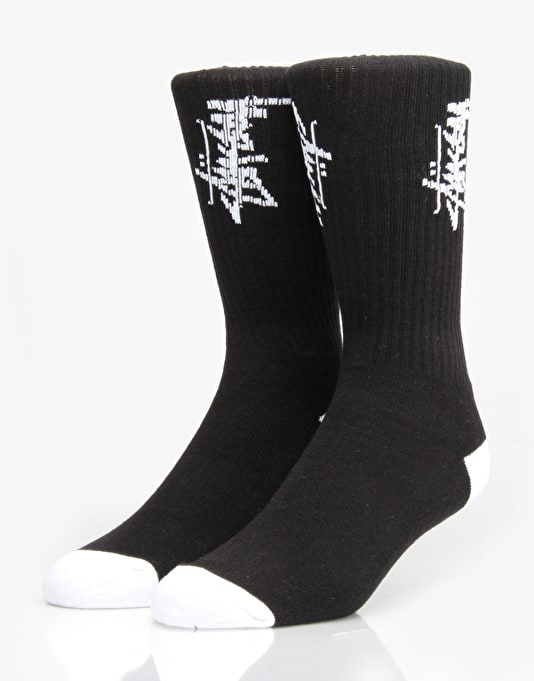 Stüssy Stock Crew Socks - Black