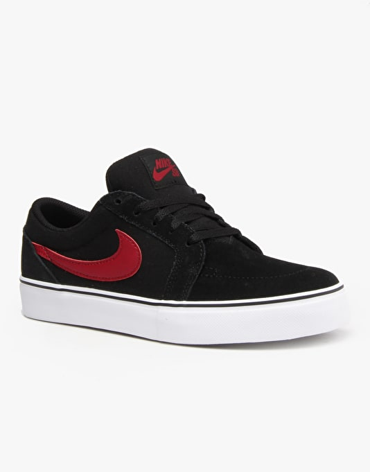 Nike SB Satire II Boys Skate Shoes - Black/Team Red/White