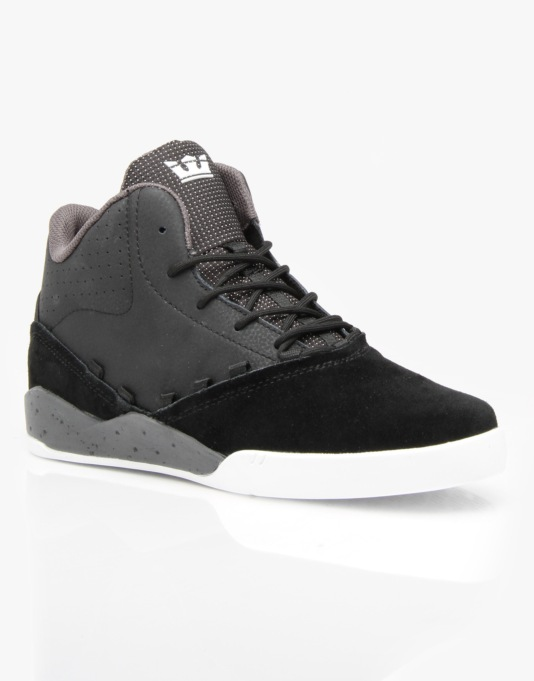 Supra Estaban x Stevie Williams Skate Shoes - Black/Grey - White
