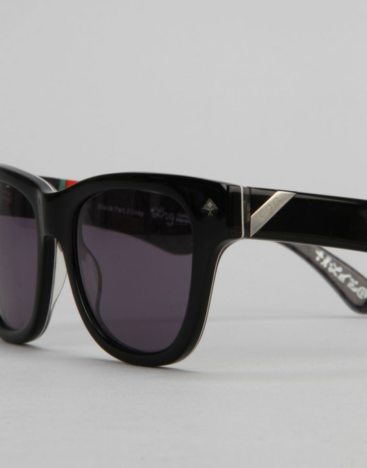 LRG Research Icon Sunglasses - Black Pattern/Grey