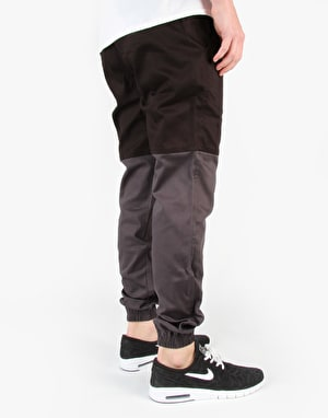 Publish Two-Tone Joggers - Black/Charcoal