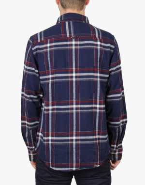 DC Wes Flannel LS Shirt - Wes Plaid Blue