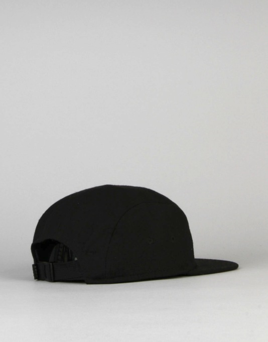 Route One Box Logo 5 Panel Cap - Black
