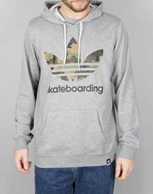 Adidas 3.0 Camo Pullover Hoodie - Core Heather