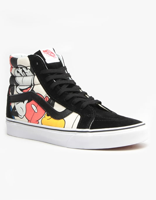 Vans Sk8-Hi Reissue Skate Shoes - (Disney) Mickey & Friends/Black