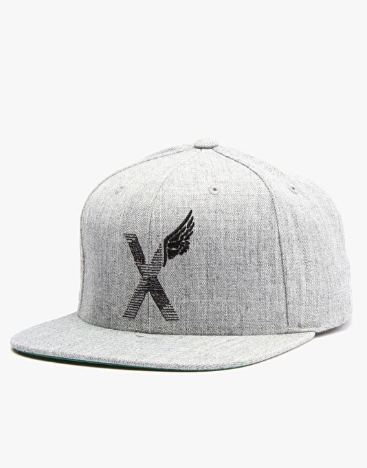 10Deep World Wing Snapback Cap - Heather Grey