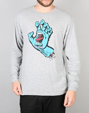 Santa Cruz Screaming Hand L/S T-Shirt - Dark Heather