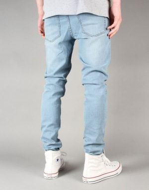 Cheap Monday Him Spray Super Skinny Jeans - Stonewash Bleach