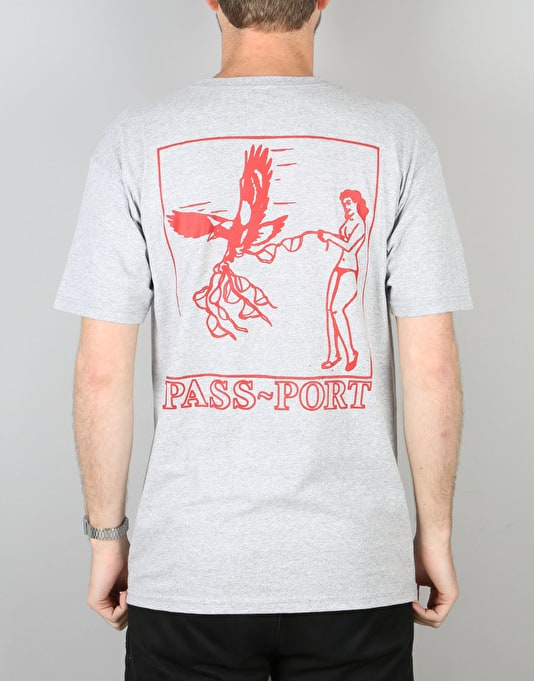 Pass Port Fly In Fly Out T-Shirt - Grey