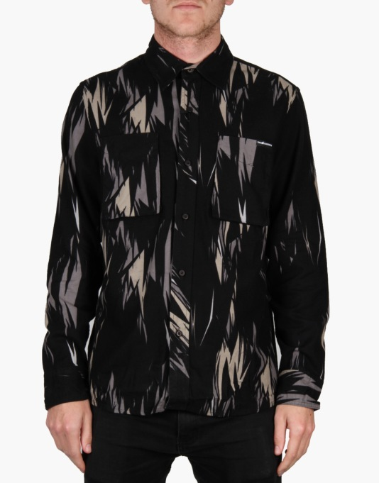 The Hundreds Thistle Woven L/S Shirt - Black