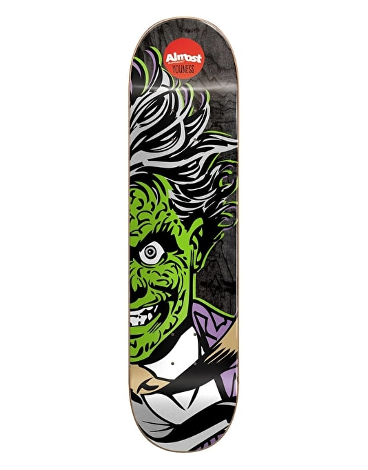 Almost x DC Comics Youness Two-Face Split Face Pro Deck - 8""