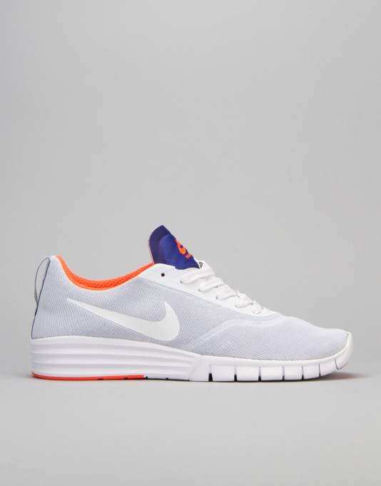 Nike SB Lunar Paul Rodriguez 9 Shoes - White/Blue/Total Crimson/White