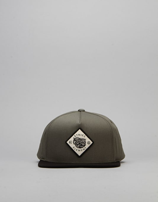 Etnies x Element Woodskeeper Snapback Cap - Black